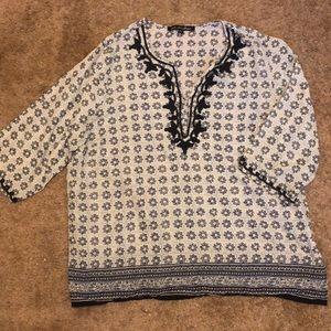 Plus size printed blouse